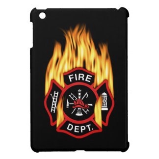 Firefighter Badge Flaming iPad Mini Case