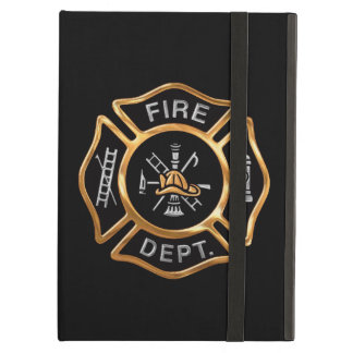 Firefighter Badge Gold Cover For iPad Air