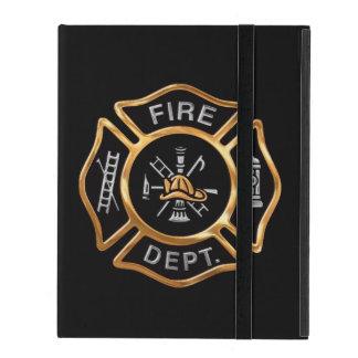 Firefighter Badge Gold iPad Folio Case