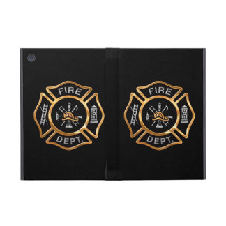 Firefighter Badge Gold iPad Mini Covers