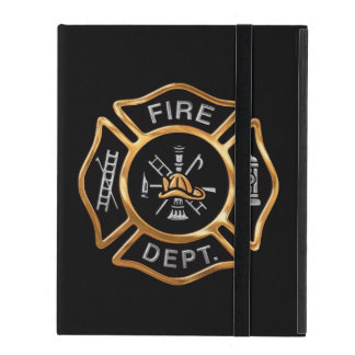 Firefighter Badge Gold iPad Cover