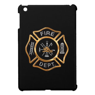 Firefighter Badge Gold iPad Mini Cover