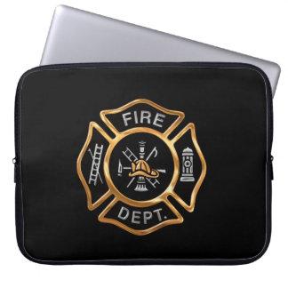 Firefighter Badge Gold Laptop Sleeve