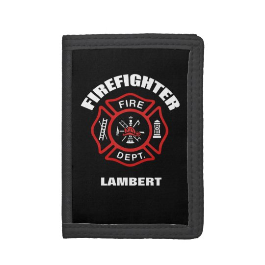 firefighter badge name template trifold wallet zazzle com