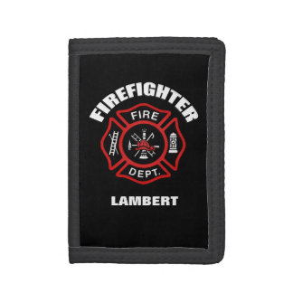 Firefighter Badge Name Template Trifold Wallets