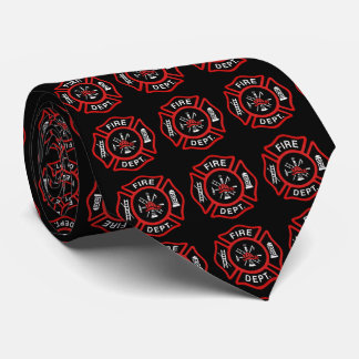 Firefighter Badge Pattern Tie