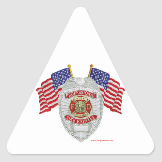 FireFighter_Badge_Professional Triangle Sticker