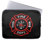Firefighter Badge Red Computer Sleeves