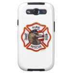 FireFighter_Badge_Red_White_Gold Galaxy S3 Protectores