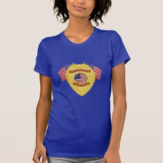 Firefighter_Badge_Volunteer_Gold T-Shirt
