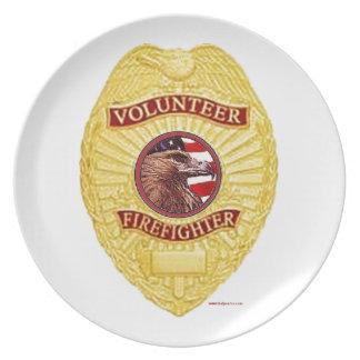 FireFighter_Badge_Volunteer Plates