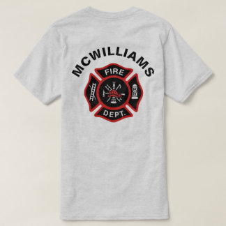 Firefighter Badge w/ Name T-Shirt
