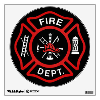 Firefighter Badge Wall Decal