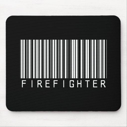 Firefighter Bar Code Mouse Mat
