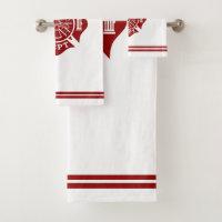 Firefighter Bath Towels Set