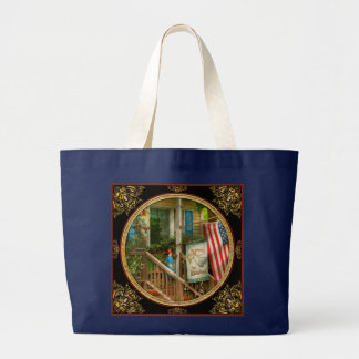 Firefighter - Be blessed my hero Large Tote Bag