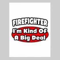 Firefighter...Big Deal Postcard