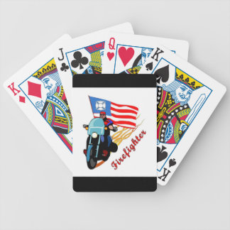 Firefighter Bikers Bicycle Playing Cards