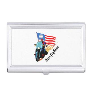 Firefighter Bikers Business Card Holder