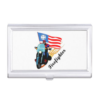 Firefighter Bikers Case For Business Cards