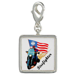 Firefighter Bikers Charm