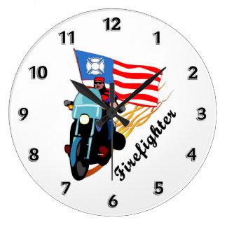 Firefighter Bikers Clock
