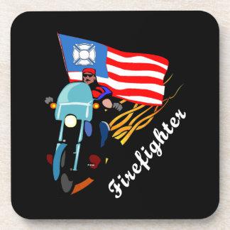 Firefighter Bikers Drink Coaster
