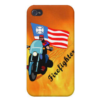 Firefighter Bikers iPhone 4 Covers