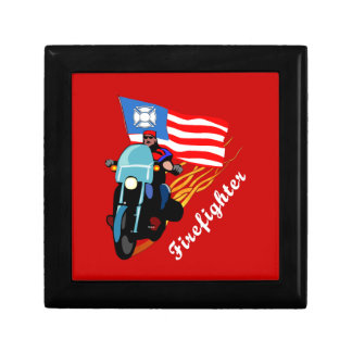 Firefighter Bikers Jewelry Boxes