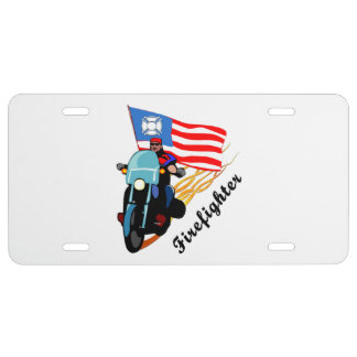 Firefighter Bikers License Plate