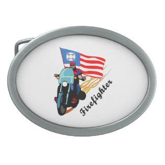 Firefighter Bikers Oval Belt Buckle