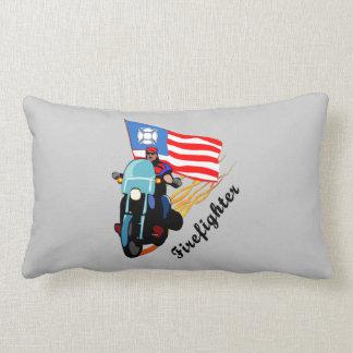 Firefighter Bikers Throw Pillow