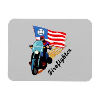 Firefighter Bikers Rectangular Photo Magnet