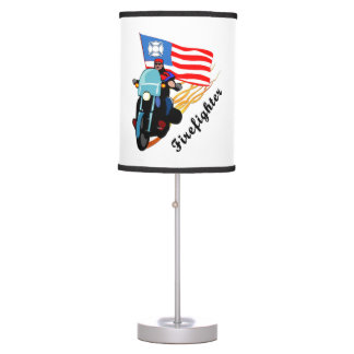 Firefighter Bikers Table Lamp