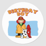 Firefighter Birthday Boy Stickers