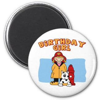 Firefighter Birthday Girl Fridge Magnet
