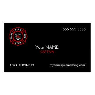 Firefighter Black Business Card Template