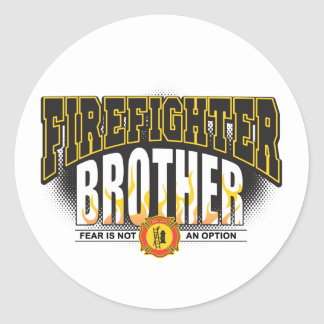 Firefighter Brother Classic Round Sticker