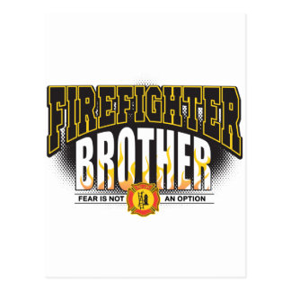 Firefighter Brother Postcard