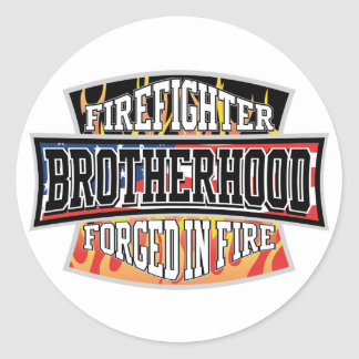 Firefighter Brotherhood Classic Round Sticker
