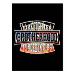 Firefighter Brotherhood Postcard