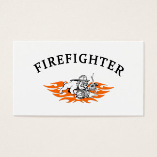 Firefighter Bull Dog Tough Business Card