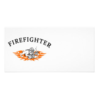 Firefighter Bull Dog Tough Card