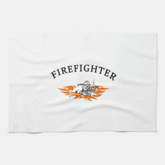 Firefighter Bull Dog Tough Hand Towels