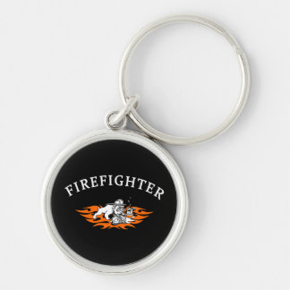Firefighter Bull Dog Tough Keychain