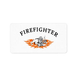 Firefighter Bull Dog Tough Label