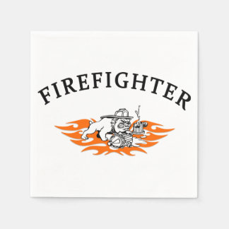 Firefighter Bull Dog Tough Napkin