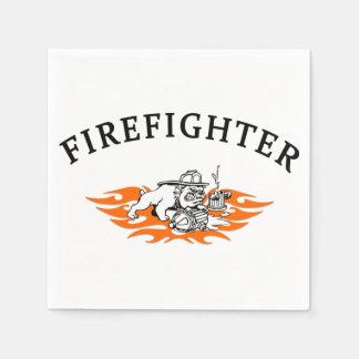 Firefighter Bull Dog Tough Disposable Napkin