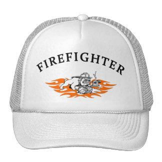Firefighter Bull Dog Tough Trucker Hat