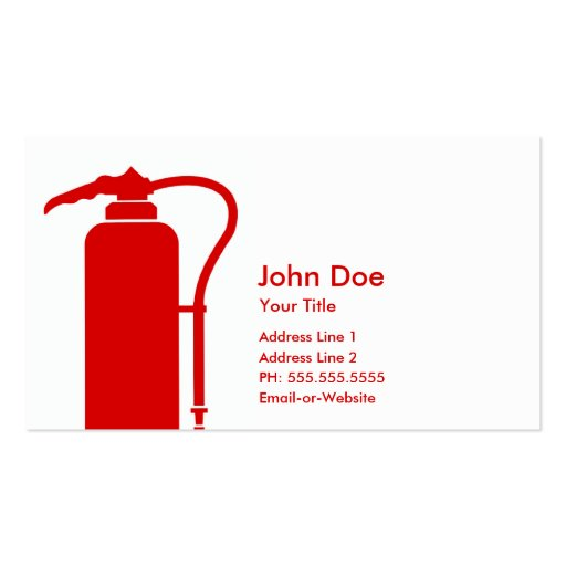 Fire extinguisher business card templates bizcardstudio firefighter business card templates colourmoves